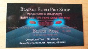 Blaise's Euro Pro Shop