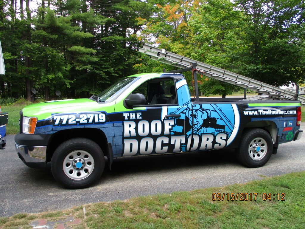 Roofing Truck Wrap